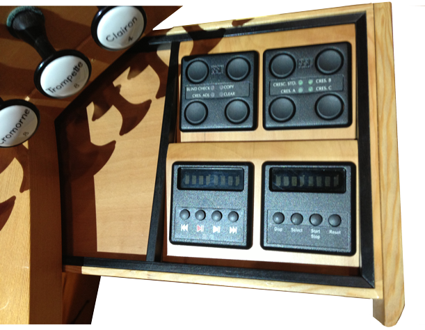 Control panels in drawer